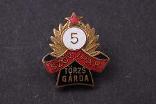 Hungary Hungarian Torzsgarda 5 Year Weaving Textile Industry badge pin medal