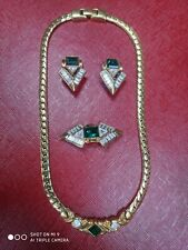 Guy Laroche bijoux set 3 pieces - earrings, brooch, necklace vintage 1980