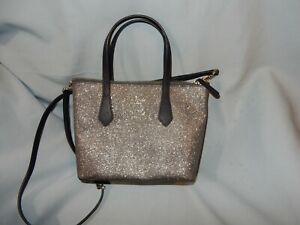 Kate Spade Joeley Small Satchel Crossbody Handbag Glitter Dusk Navy