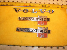 Volvo 1971 145 S Wagon front fender sides rear hatch Metal OE 1 set of 3 Emblems