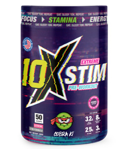 10x Athletic Pre Workout Extreme Stim 50 scoops! New Flavours Available!