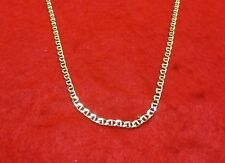 """16"""" 14KT GOLD EP MARINER LINK 5MM ANCHOR CHAIN NECKLACE"""
