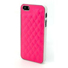 Cover Case for IPHONE 5S/5 Chrome & Leather Braided Fuchsia Included