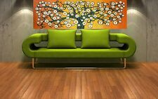 canvas original art tree of life flower orange landscape print jane crawford