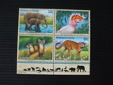 "UNITED NATIONS - 1997 "" ENDANGERED SPECIES, Se-tenant Block 4 "" U/M. SG.720/23."
