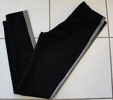 NWT $76 ONLY HEARTS Tuxedo Skinny Leggings Black/Gunmetal Sz S