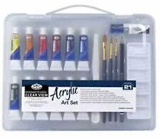 Royal Langnickel Acrylic Painting Set - Sm Clear Case         (RSET-ART3103)