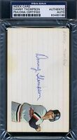 Danny Thompson D.76 Psa/dna Certed Signed 3x5 Index Card Autograph Authentic