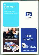 NEW HP Premium Photo Paper Glossy 60 sheets 4x6 (102X152 mm)