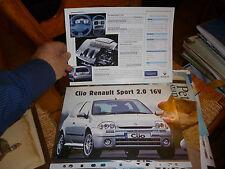 Feuillet Clio Renault Sport 2.0 16V 1999