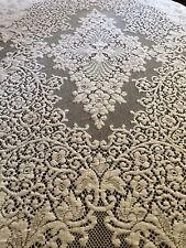 Gorgeous Vintage White Quaker Cotton Lace Tablecloth