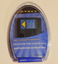 Dynex VHS-C Cassette Adapter DX-DA100491 NEW SEALED *Play cassettes on your VCR