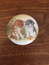 Royal Staffordshire UK Kittens Puppies Dish with Lid Bone China Art Pottery