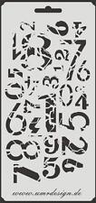 Scrapbooking Schablone S-162  Zahlen vintage ~ Stencil ~ UMR-Design