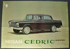 1964 Nissan Cedric 6-Seater Sedan Sales Brochure Folder Datsun Original 64
