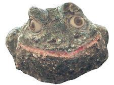 Derpy Garden Toad Frog Sculpture Awesome Eyes Vintage Retro Signed Js c2000