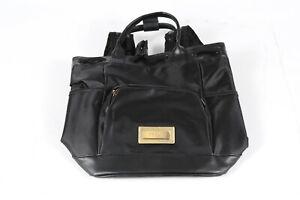 New Versace Parfums Backpack Black Drawstring Handles Sport Rucksack Bag Footed