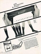 PUBLICITE ADVERTISING 055  1966  COLLEGIEN  chaussettes enfant
