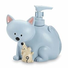 Saturday Night Cats Dog Animal Pet Soap Pump Dispenser Childrens Blue Bathroom