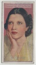 Kay Francis  American Stage Film Movie Actress  80+  Y/O Trade Ad Card