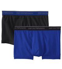 NWT Emporio Armani. Sz M. Men 2 Pack. Trunk. Black/Electric Blue. MSRP $45.00