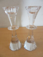 """Pair Marquis Waterford crystal candlesticks 6.5"""""""