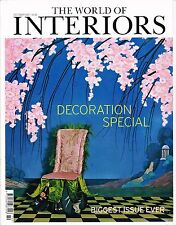 THE WORLD OF INTERIORS 10/2007 DECORATION SPECIAL Autumn Fabrics @excl
