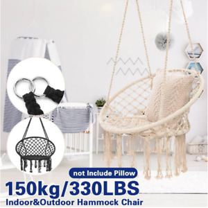 Hammock Swing Chair Hanging Rope Seat Net Chair Macrame Swing Garden Outdoor UK