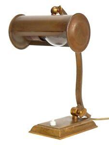 Original Art Déco Kontorlampe Schreibtischlampe Tischlampe Messinglampe Berlin
