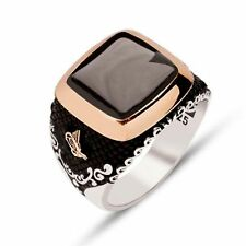 TURKISH OTTOMAN Onyx Stone 925K Sterling Silver Mens Ring All size