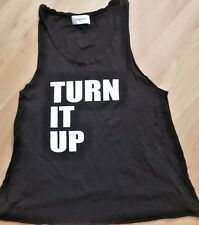 SOULCYCLE TURN IT UP SC Muscle Tank Top Black size S Gym Run Spin Cycle EUC