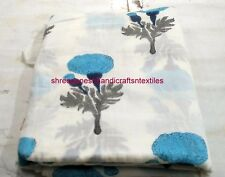 5 Yard Hand Block Printed Fabric Indian Handmade 100% Cotton Sewing Fabric Throw