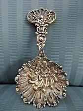 Tiffany & Co BON BON Spoon STERLING SILVER ART NOUVEAU Floral Shell No Mono