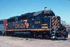 Kodak Original Slide  DRGW  GP40-2  #3114   Denver & Rio Grande     WP  SP  UP