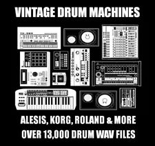 Vintage Drum Machines Samples - Over 13,000 WAV Files - Download Link Provided