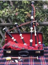 Great Highland Rosewood Bagpipe Full Ivory Amounts With Hard Case