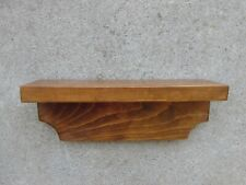 """Vintage Handcrafted Solid wood wall shelf Heavy 12.5"""" x 3.5"""" deep Primitive"""