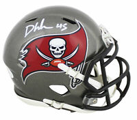 Buccaneers Devin White Authentic Signed Speed Mini Helmet BAS Witnessed