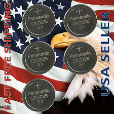 **FRESHLY NEW** 5x Panasonic CR2025 Lithium Battery 3V Coin Cell Exp 2024