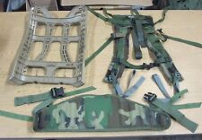 Used Complete USGI Molle II Frame , Belt and Shoulder Straps Woodland Camo Combo