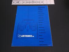 VINTAGE '83 AIRTRONICS R/C MODEL TRANSMITTER RECEIVER PRICE LIST/CATALOG *G-COND
