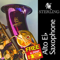 Purple Alto Sax • Brand New STERLING Eb Saxophone • Case  • Free Express Post •