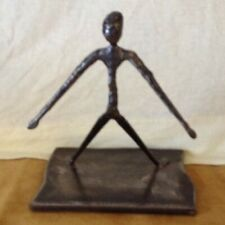 scottish metal hand made sculpture free fall man pose