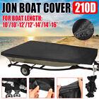 Heavy Duty Waterproof Jon Boat Cover 1010-1212-1414-16 Length 210d Us