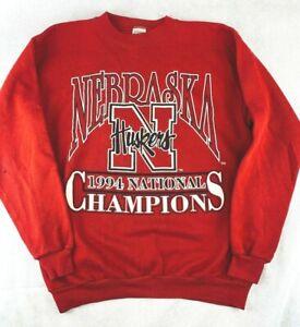VTG Competitor Nebraska Huskers 1994 National Champions Sweatshirt~Made in USA~L