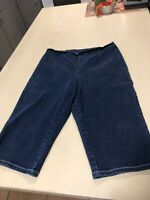 Womens Denim Stretch Capris L