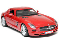 MAISTO 1:18 2011 MERCEDES BENZ SLS AMG DIECAST MODEL CAR RED