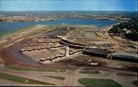 La Guardia Airport Queens New York~ aerial view~ vintage postcard