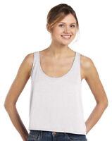 Bella + Canvas Women's Flowy Boxy Sleeveless Body Length Easy Fit Tank Top. 8880