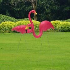 2 Pack Pink Flamingos Plastic Yard Garden Lawn Art Ornaments Retro FREE SHIP